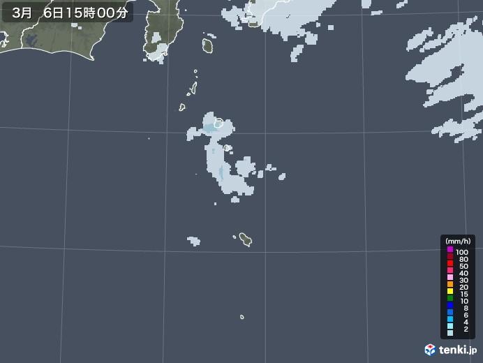 伊豆諸島(東京都)の雨雲レーダー(2021年03月06日)