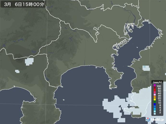 神奈川県の雨雲レーダー(2021年03月06日)