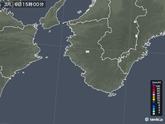 和歌山県の雨雲レーダー(2021年03月06日)