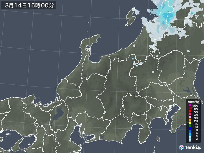 北陸地方の雨雲レーダー(2021年03月14日)