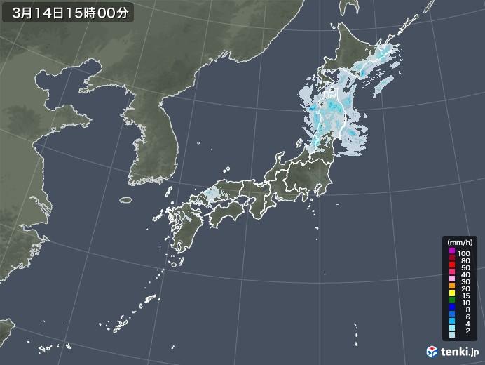 雨雲レーダー(2021年03月14日)