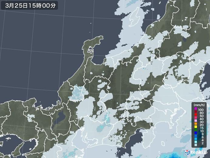 北陸地方の雨雲レーダー(2021年03月25日)