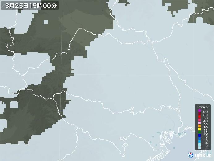 埼玉県の雨雲レーダー(2021年03月25日)