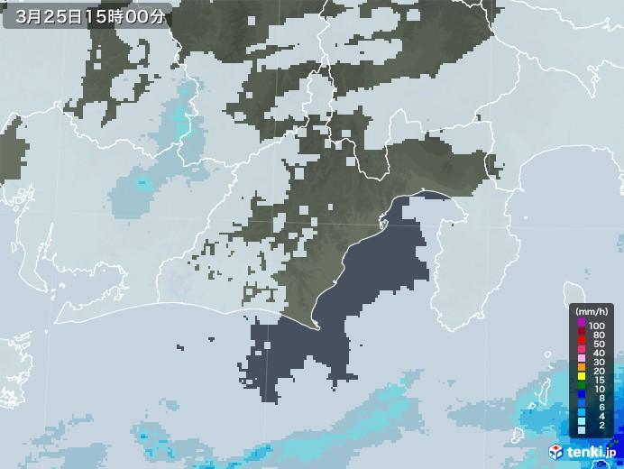 静岡県の雨雲レーダー(2021年03月25日)