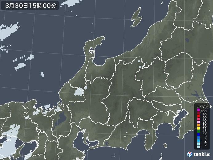 北陸地方の雨雲レーダー(2021年03月30日)