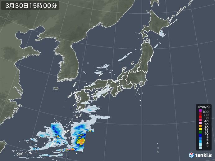 雨雲レーダー(2021年03月30日)