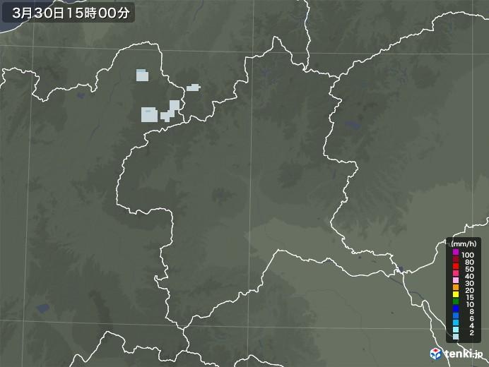 群馬県の雨雲レーダー(2021年03月30日)
