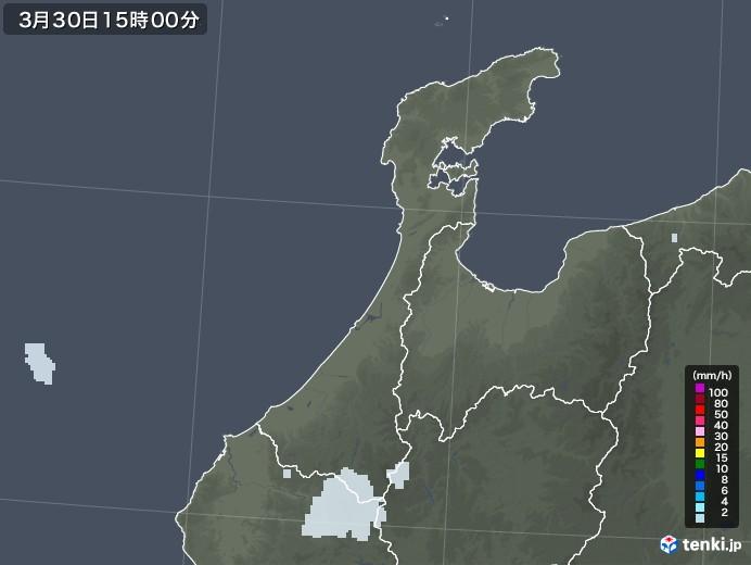 石川県の雨雲レーダー(2021年03月30日)