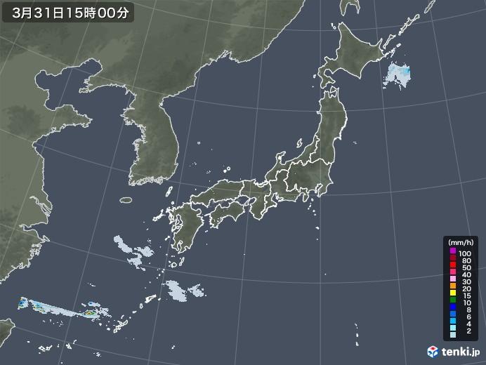 雨雲レーダー(2021年03月31日)