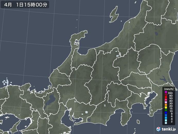 北陸地方の雨雲レーダー(2021年04月01日)