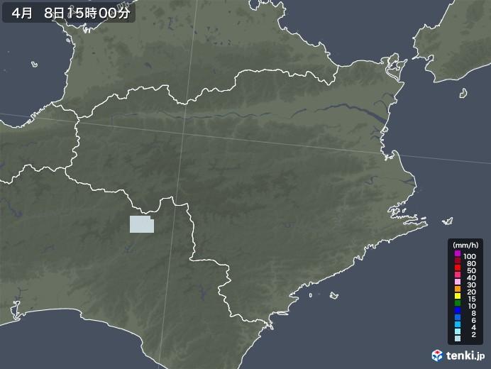 徳島県の雨雲レーダー(2021年04月08日)