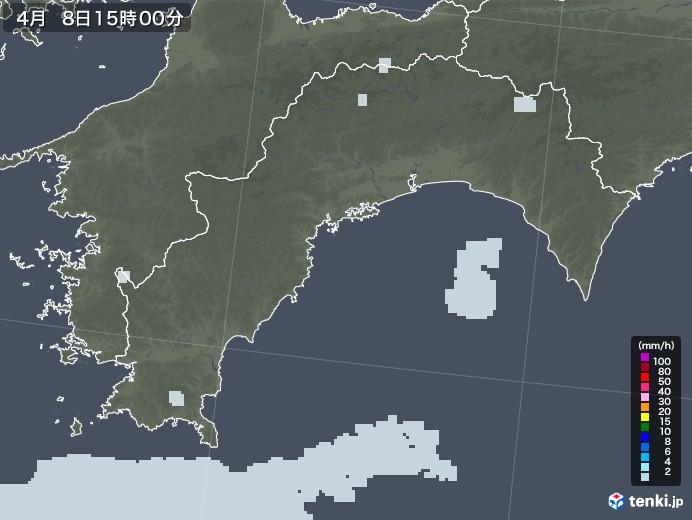 高知県の雨雲レーダー(2021年04月08日)