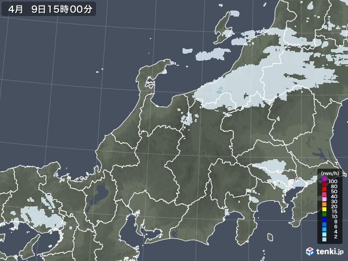 北陸地方の雨雲レーダー(2021年04月09日)