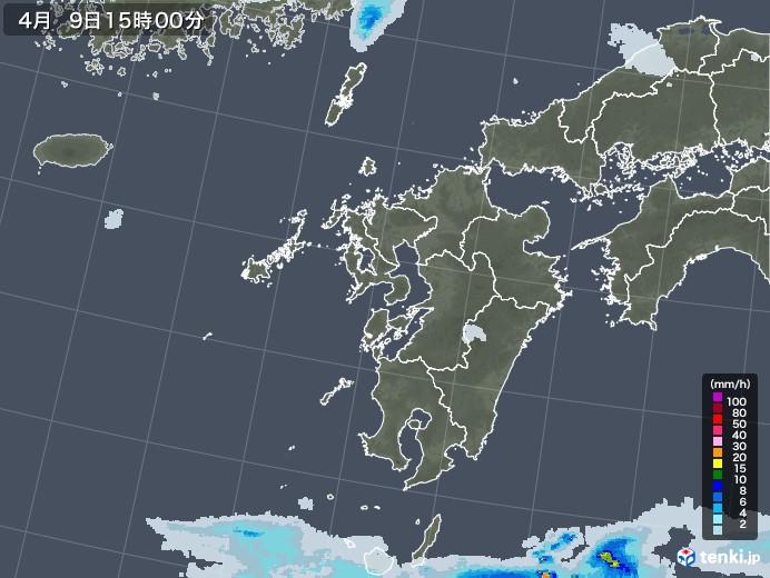 九州地方の雨雲レーダー(2021年04月09日)