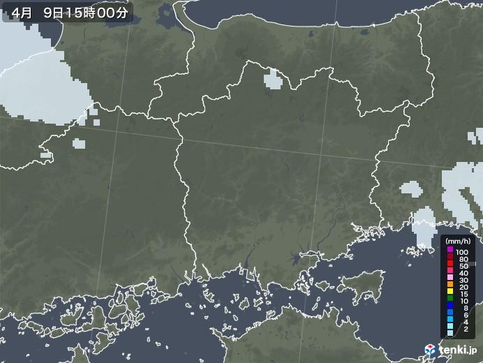 岡山県の雨雲レーダー(2021年04月09日)