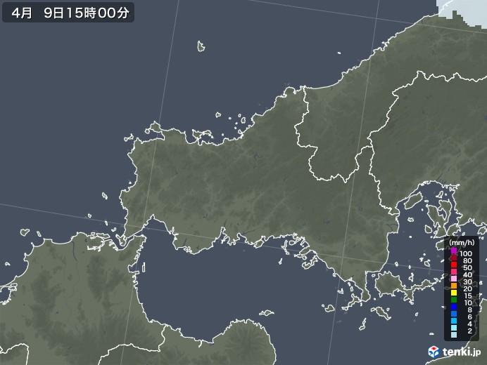 山口県の雨雲レーダー(2021年04月09日)