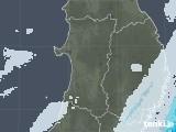 2021年04月14日の秋田県の雨雲レーダー