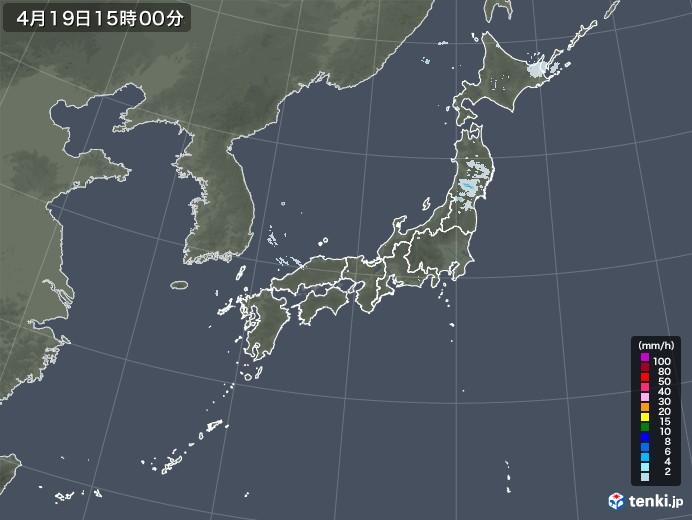 雨雲レーダー(2021年04月19日)