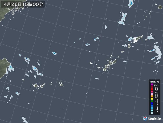 沖縄地方の雨雲レーダー(2021年04月26日)