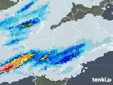 2021年05月01日の奈良県の雨雲レーダー