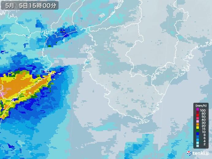 和歌山県の雨雲レーダー(2021年05月05日)