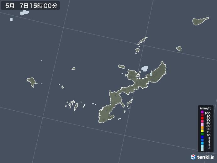 沖縄県の雨雲レーダー(2021年05月07日)