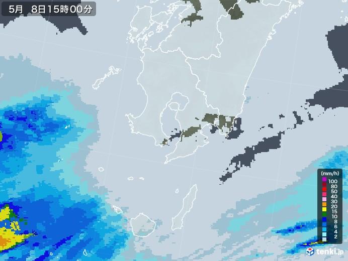 鹿児島県の雨雲レーダー(2021年05月08日)