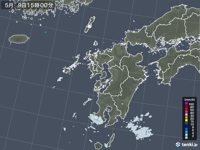 九州地方の雨雲レーダー(2021年05月09日)
