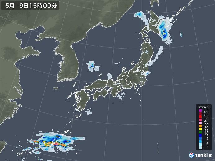 雨雲レーダー(2021年05月09日)