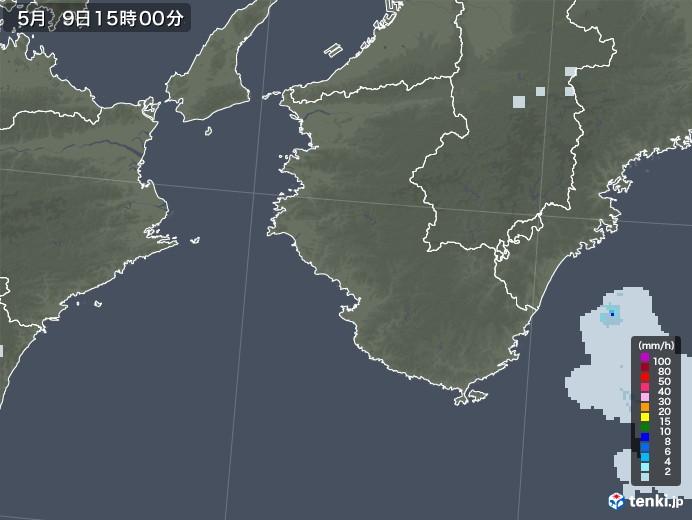 和歌山県の雨雲レーダー(2021年05月09日)