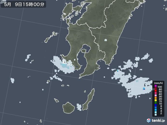 鹿児島県の雨雲レーダー(2021年05月09日)