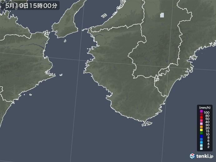和歌山県の雨雲レーダー(2021年05月10日)