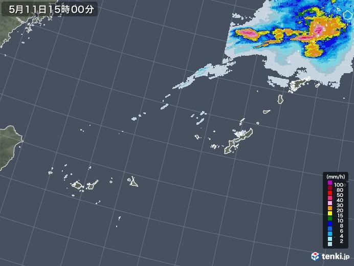 沖縄地方の雨雲レーダー(2021年05月11日)