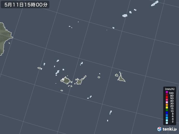 宮古・石垣・与那国(沖縄県)の雨雲レーダー(2021年05月11日)