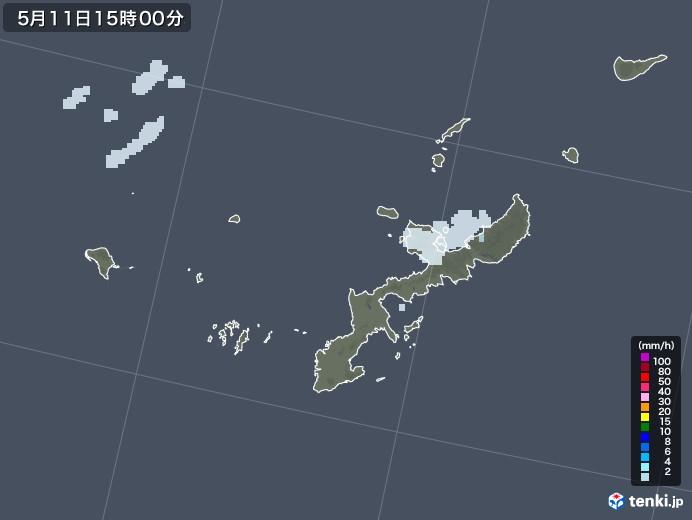 沖縄県の雨雲レーダー(2021年05月11日)