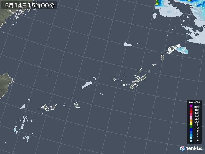 沖縄地方の雨雲レーダー(2021年05月14日)