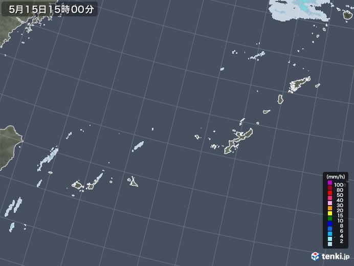 沖縄地方の雨雲レーダー(2021年05月15日)