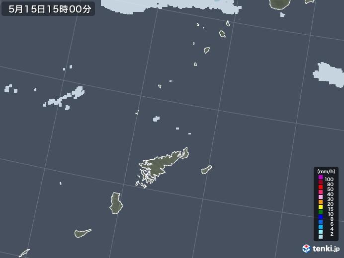 奄美諸島(鹿児島県)の雨雲レーダー(2021年05月15日)