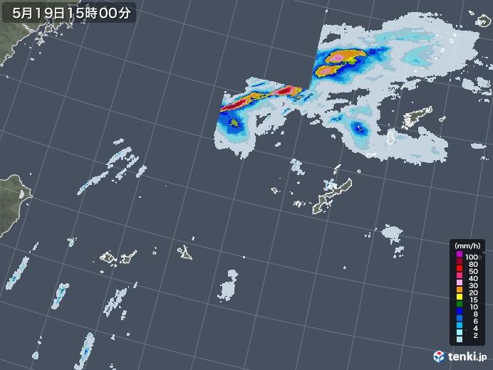 沖縄地方の雨雲レーダー(2021年05月19日)