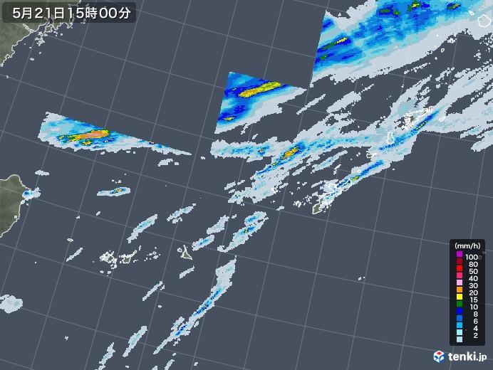 沖縄地方の雨雲レーダー(2021年05月21日)