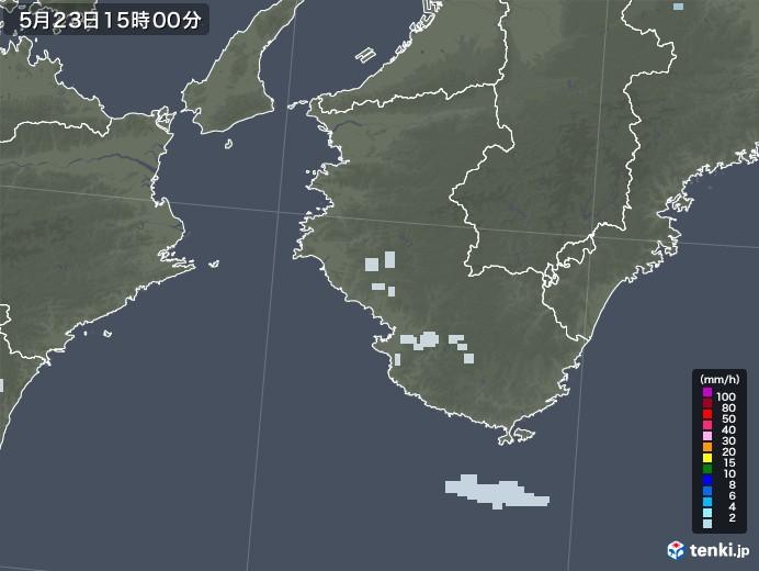 和歌山県の雨雲レーダー(2021年05月23日)