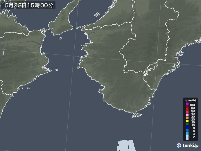 和歌山県の雨雲レーダー(2021年05月28日)