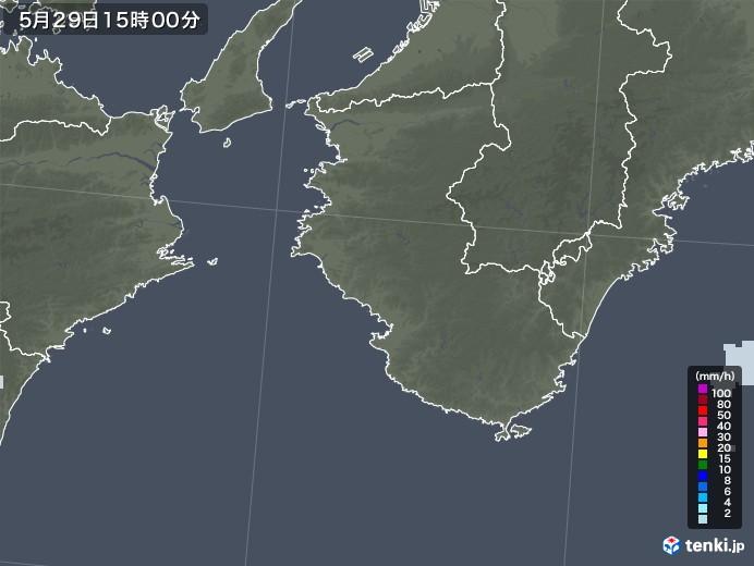 和歌山県の雨雲レーダー(2021年05月29日)
