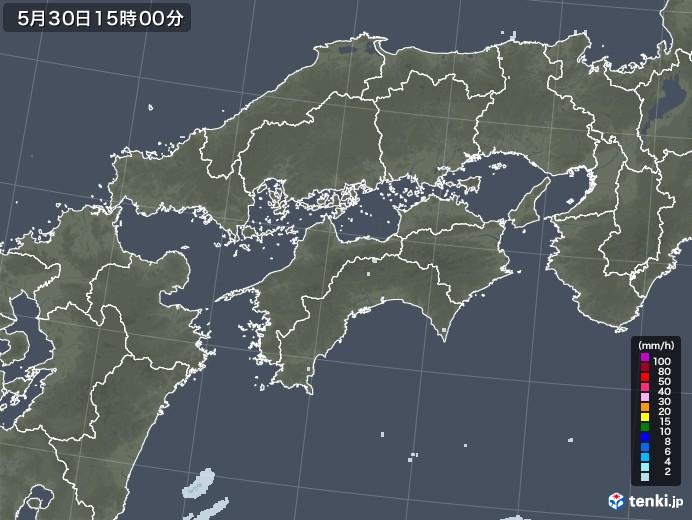 四国地方の雨雲レーダー(2021年05月30日)