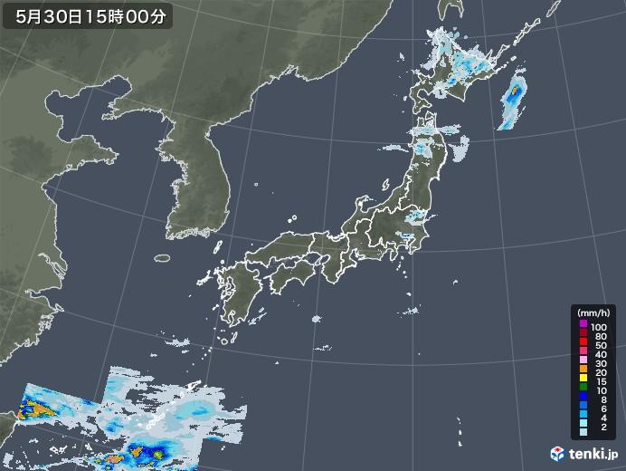 雨雲レーダー(2021年05月30日)
