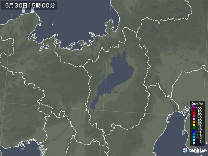 滋賀県の雨雲レーダー(2021年05月30日)