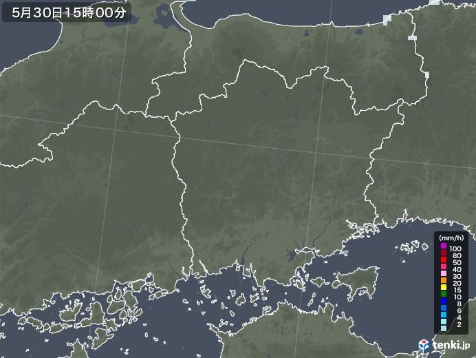 岡山県の雨雲レーダー(2021年05月30日)