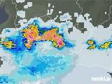 2021年07月12日の愛知県の雨雲レーダー