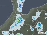 2021年07月13日の富山県の雨雲レーダー