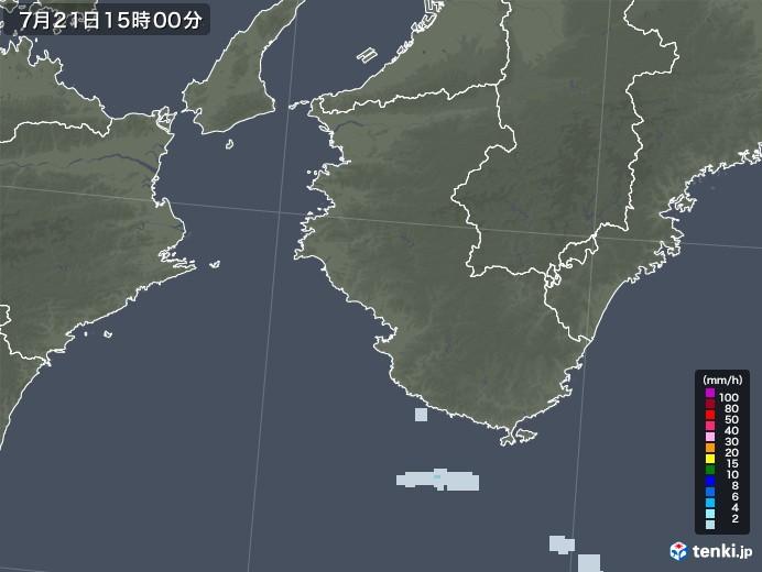 和歌山県の雨雲レーダー(2021年07月21日)